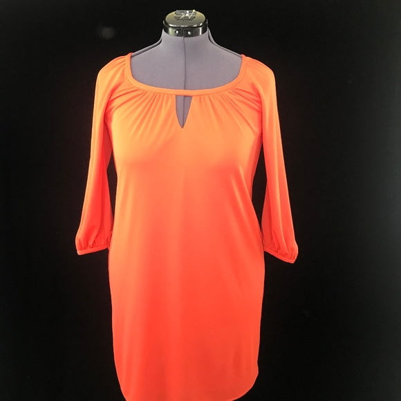 Milly Dresses & Skirts - Milly of New York Orange Dress 3/4 Sleeves